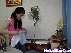 cuckolding gf humiliates cheating bf video