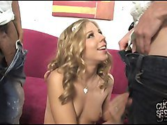Chastity Lynn fucks BBC in front of cuckold husband