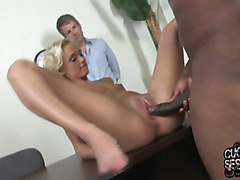 Cuckold husband watching Molly Rae owned by BBC