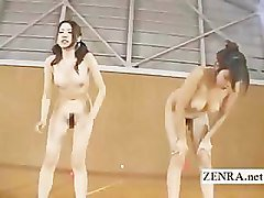 Weird bizarre Japanese group vibrator squatting game