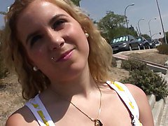 Torbe cute blonde teen picked up and creampie