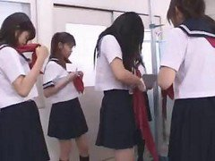 Young And Cute Japanese Lesbians Having Real Fun With Their Twats