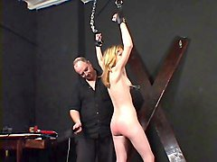 small tits blonde auditioning at a bdsm session