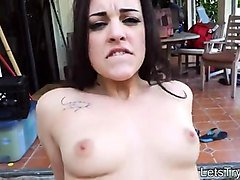 nasty amateur girlfriend tries out anal sex outdoors