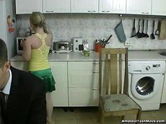 Amateur Blonde Banged In Kitchen