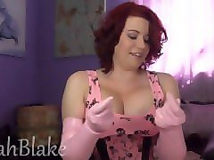 i am so exciting to receive my pink latex gloves