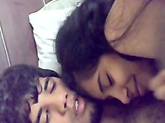 indian bf and gf cuddling and pressing boobs