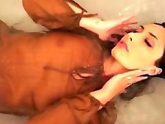 hot wetlook showering with fully clothes