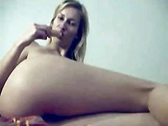 Amateur College Girl Plays With Her Body