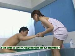 Nao Ayukawa Innocent Naughty Chinese Girl Gives Head In The Bathroom