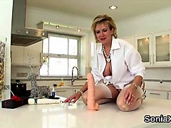 stunning tranny strokes her big hard cock