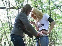 Two Wild Girls Have Fun In Forest