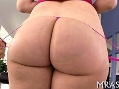 big ass babe getting drilled in the ass doggy style