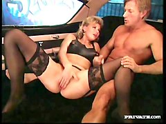 busty blond lucy gets anal sex in the pink cadillac