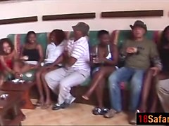 Black African Teens Fucked In Group Sex