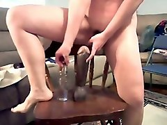 dirty like mud and extremely voracious webcam girl with big tits rides dildo