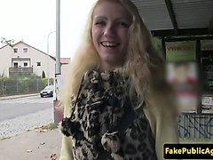 pulled eurobabe public fucked for cash