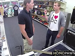 perfect banging ass rocker dude encounters a mysterious gay threesome in the pawnshop