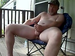 Verbal Redneck Daddy Porch Jerk Off Cum