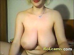 attractive big tit mature masturbation on webcam